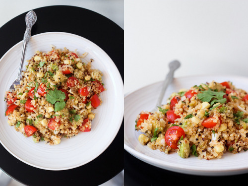 georgie-ray:  Toasted Quinoa Salad w/ Jalapeno-Lime Dressing