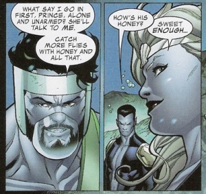 theanonwhowaited:  incredible hercules #122  #that time namor asked namora how herc was in bed
