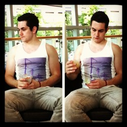 Spilt coffee on his new pants #cuteboyfriend (Taken with Instagram)
