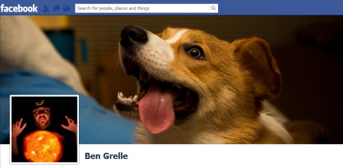 The only time I use Facebook is to change my cover photo.