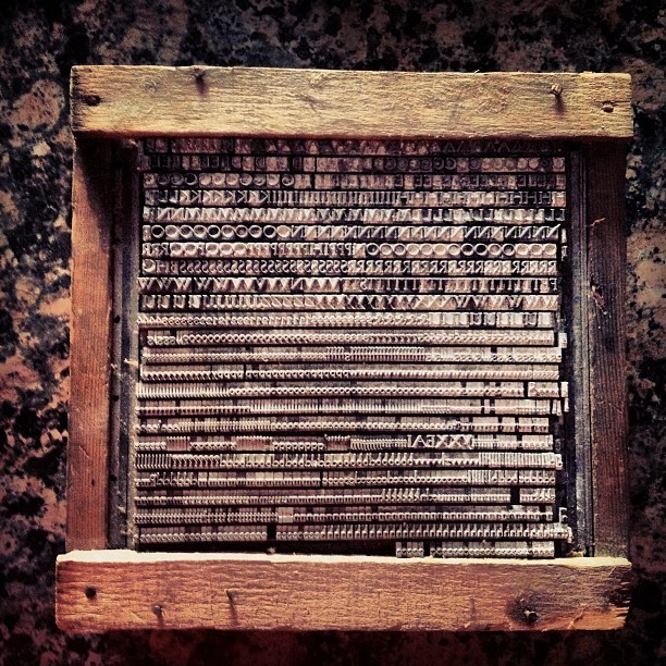 sheasmith:  antique store score #letterpress  (Taken with Instagram)