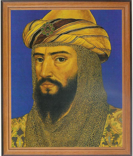 Sultan Salahuddin Ayyubi (Saladin) was a Kurd, born in Tikrit, grew up among Arabs and was trained in the military arts by Seljuk Turks. Tiger of Islam. My second favourite warrior after Khalid ibn al-Walid