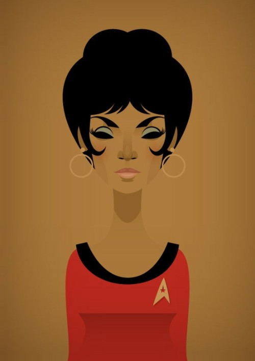 cmputrbluu:  (via The Magic of Television! / Uhura by Stanley Chow)