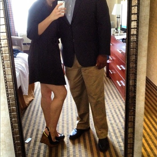 @305kid wedding attire. 👫 #fancy #married #love #lbd #legs #us #tonight  (Taken with Instagram)