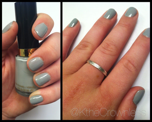 "Nail of the day! Revlon Nail Polish in No. 310 - ""Timeless,"" two coats. $4.99 for such a fabulous grey color that I'm sure I'll be wearing throughout Fall and Winter. I love grey as a neutral (I guess it is a neutral anyway, isn't it?) - so I guess it's like my equivalent of light pink or nude. Move over Essie Ballet Slippers and Cocktail Bling! I love love love the Revlon formula. It went on so smoothly and looks chic and elegant. I definitely recommend this!"