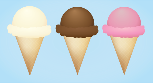 Made some yummy ice cream cones using adobe illustrator….yeah I was bored and didn't feel like doing anything actually productive.