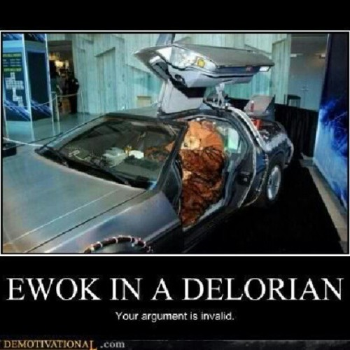 #Ewok in a #delorian your #argument is #invalid  (Taken with Instagram)