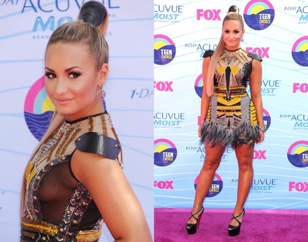 Love Demi and the Falguni and Shane Peacock dress.