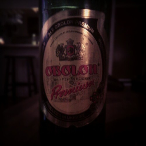 First time I've ever had a beer from Kiev. (Taken with Instagram)