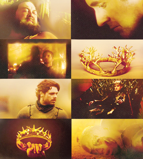 For within the hollow crown That rounds the mortal temples of a king Keeps Death his court