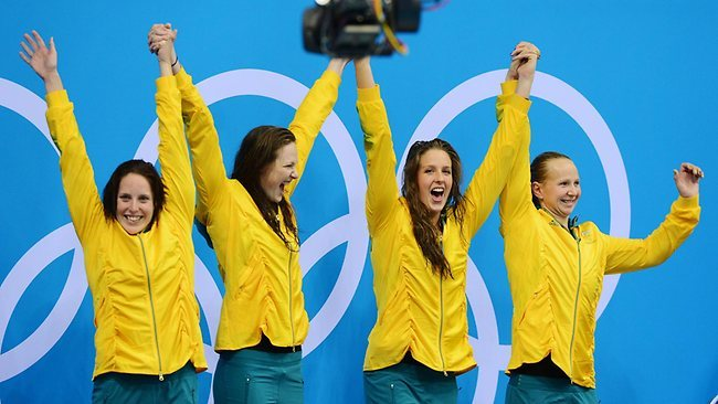 WOOO GO AUSSIES, FIRST GOLD MEDAL XD