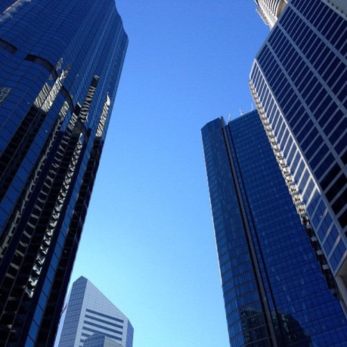 Vertigo inducing skyline (Taken with Instagram at Brisbane CBD)