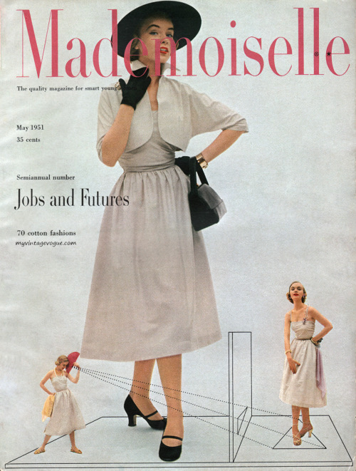 Mademoiselle Cover May 1951 - photo by Mark Shaw Conde Nast Archive