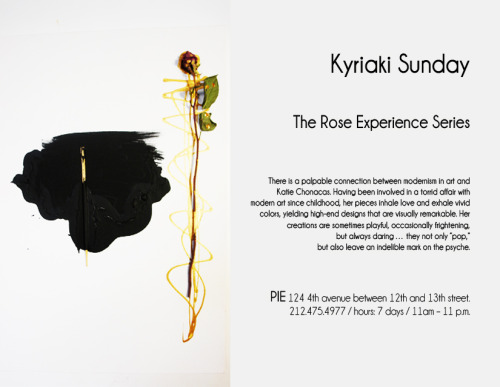 kyriakisunday:  #nyc lovers of ART come check out some of my pieces at PIE now THE ROSE EXPERIENCE SERIES  UNION SQUARE area