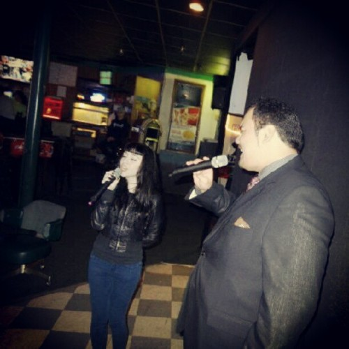 Karaoke kween. So unflattering. (Taken with Instagram)