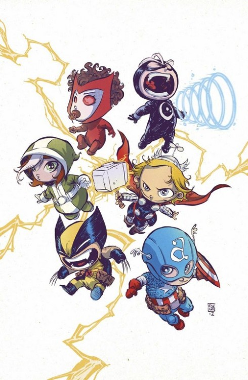 MY GOD MARVEL!  YOU NEED TO CAPITALIZE ON THESE MARVEL BABIES!Oh wait, someone already has!