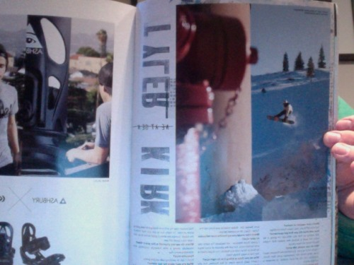 Got my first photo/interview in AUS/NZ Snowboarding.. So stoked!