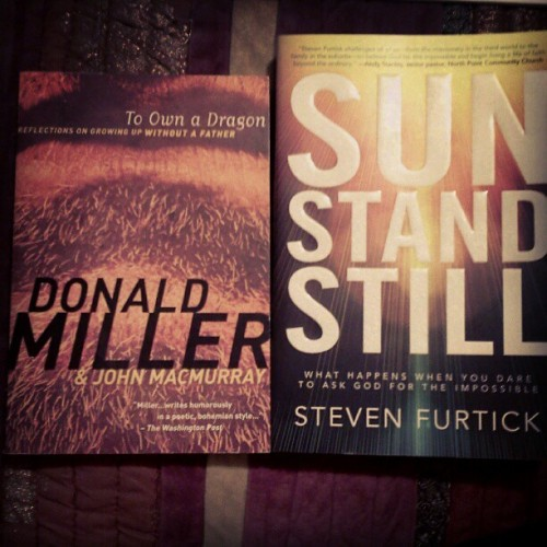 New #book purchases for today. To Own s Dragon by #DonaldMiller and Sun Stand Still by #StevenFurtick (Beth's recommendation). Also I was able to bless @itsbethnee with a Copy of #BlueLikeJazz by #DonaldMiller :) (Taken with Instagram)