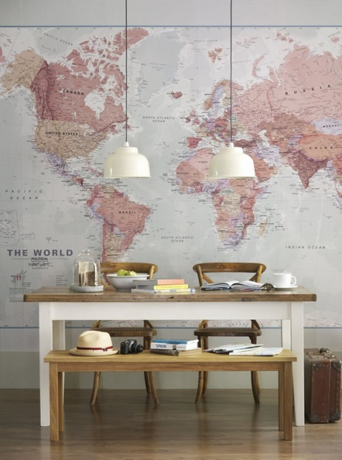 kristenbobisten:  World Map Wallpaper