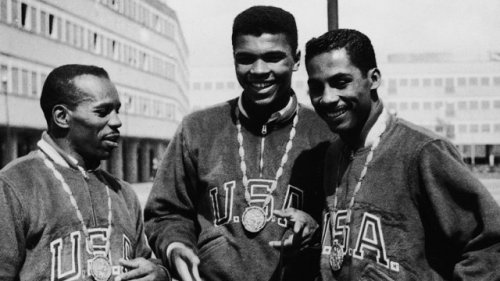 Mohammad Ali and two medal winning American boxers at the Olympic Village in Rome, Italy, in 1960. Sir Jack's: Gentlemen's Outfitters