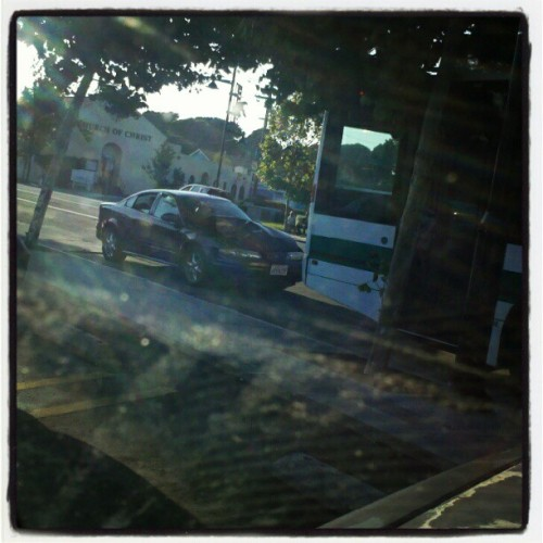 #car #bus #crash #atbankofamerica @jtalivaa  (Taken with Instagram)