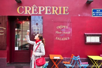 | ♕ |  Crêperie cafe in Montmartre - Paris | by © Maxime Bessieres