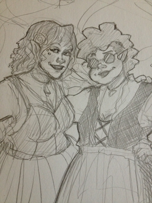 So like MY VERY BEST FRIEND LINDSEY drew this picture of my cariad and me looking' all Hobbity and JUST LOOK AT IT  JUST  LOOK AT IT  most fucking talented human  titsandtrees.tumblr.com yo
