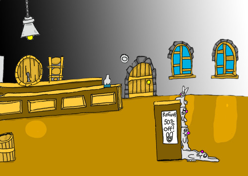 Here's the background art for the shop on tutorial island. :D