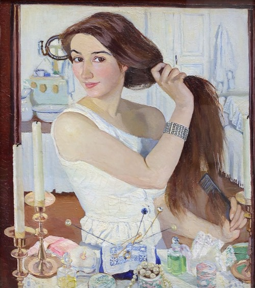 ladyurduja:  Self-portrait: At the Dressing-Table (1909) - Zinaida Serebriakova