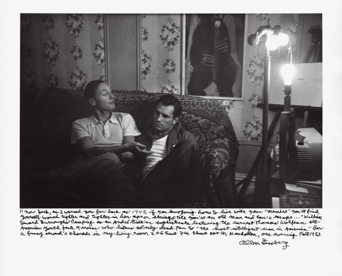 "journalofanobody:  William Burroughs and Jack Kerouac ""There is no intensity of love or feeling that does not involve the risk of crippling hurt. It is a duty to take this risk, to love and feel without defense or reserve."" ― William S. Burroughs  ""The only people for me are the mad ones, the ones who are mad to live, mad to talk, mad to be saved, desirous of everything at the same time, the ones who never yawn or say a commonplace thing, but burn, burn, burn like fabulous yellow roman candles exploding like spiders across the stars."" ― Jack Kerouac, On the Road  (one of my favorite pics…use it as a screen saver)"