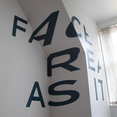 Face Reality As It Is: Anamorphic Typography by http://www.tqvinn.com/