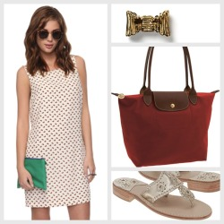OOTD | July 29 Brunch Forever 21 dress Kate Spade earrings Longchamp tote Jack Rogers sandals