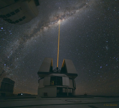 n-a-s-a:  A Laser Strike at the Galactic Center Credit: Yuri Beletsky