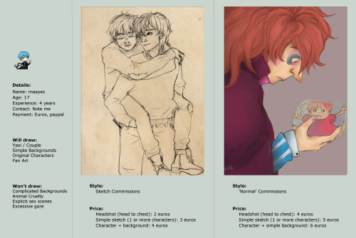 Commissions are OPEN!For more info, please visit my commission journal ~
