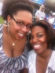 My beautiful cousin & I at the Summer Music Festival in Charlotte, NC