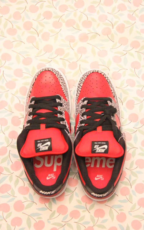 cl0udking:  hwangy:  Supreme x Nike SB  i actually like these