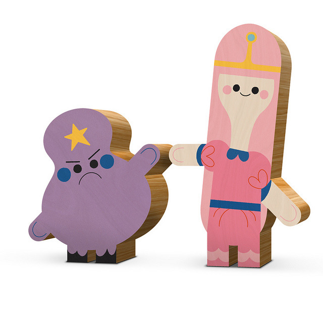 Lumpy Space Princess & Princess Bubblegum by kolbisneat on Flickr.