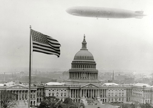 Graf Zeppelin over Washington, D.C. 1928