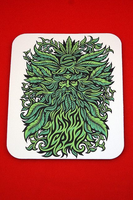 canexi:  Santa Cruz Skateboards Tree God Mousepad by HabitForming on Flickr.
