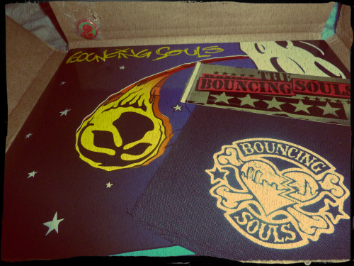 "i got my Bouncing Souls package!  ""Comet"" on vinyl (only 100 made in the rasta colors! You can get the tour edition at their shows or buy the record str8 from them at the link below - only $14 - it comes w/a digital download. Punky packs are patch/sticker/pin only $2, shipping is media rate) ;-p STOKED!!!"