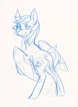 And a Rainbow Dash because I was essentially paid to draw tonight as it was dead at work. Beyond dead. Zombie dead. (I wish. ): )
