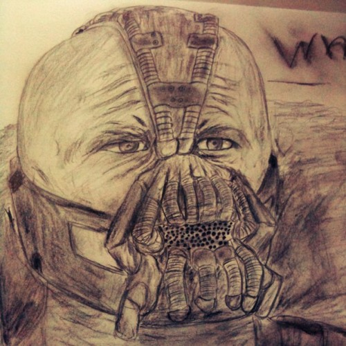 """When Gotham is ashes, then you have my permission to DIE!"" - Bane (Taken with Instagram at Rezza's Lair.)"