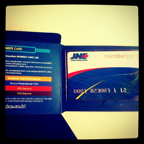 JNE card (Taken with Instagram)