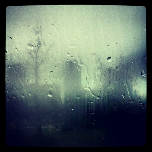 Rainy city through a car window.  (Taken with Instagram)
