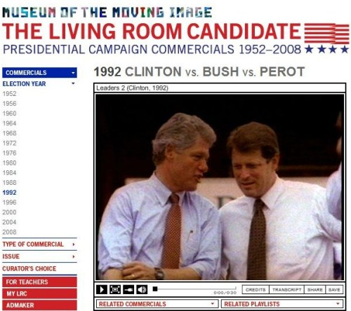 reagan-was-a-horrible-president:  This is cool!  Political commercials from 1952-2008. Thanks to illdrawanyone for letting me know about it.