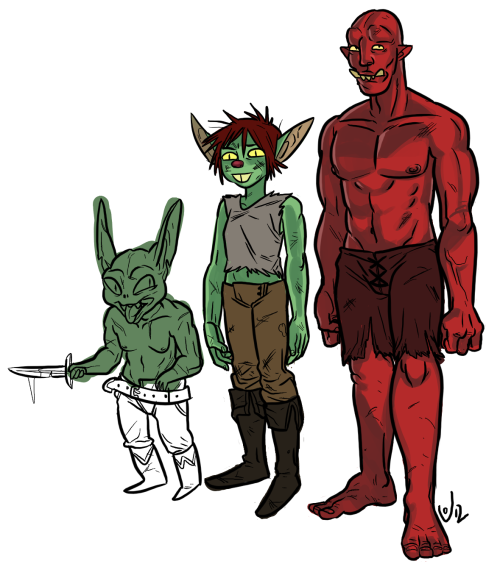 Height differences.