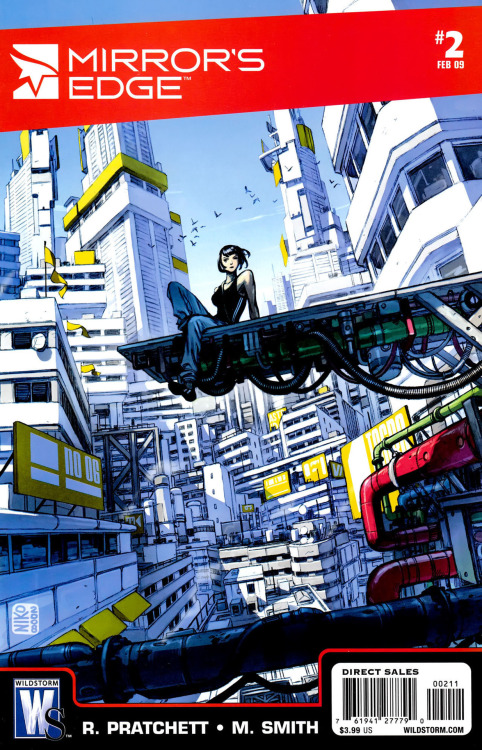 Mirror's Edge comics covers 1 & 2