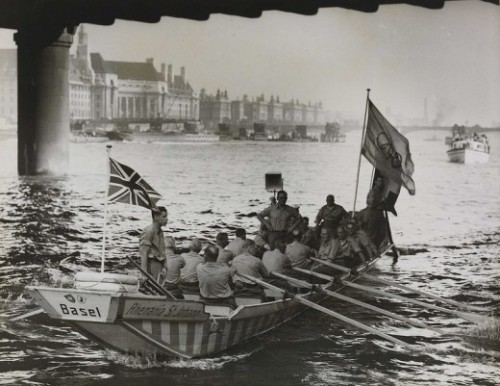 oldworldwandering:  In 1948, London hosted the first Olympics in 12 years, which have become known as the Austerity Games. Athletes were required to bring their own towels and slept in barracks and college dorms. Whale meat was one of a few unrationed foods. Some teams chose bring their own supplies, including the French who sent a trainload of meat and air lifted claret to their athletes. No new facilities were built, but the Games were considered a success overall and turned a small profit on a cost of just GBP730,000.