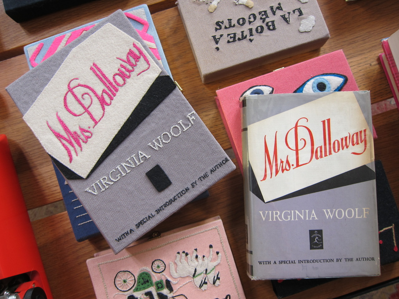 Mrs. Dalloway book-clutch and book.