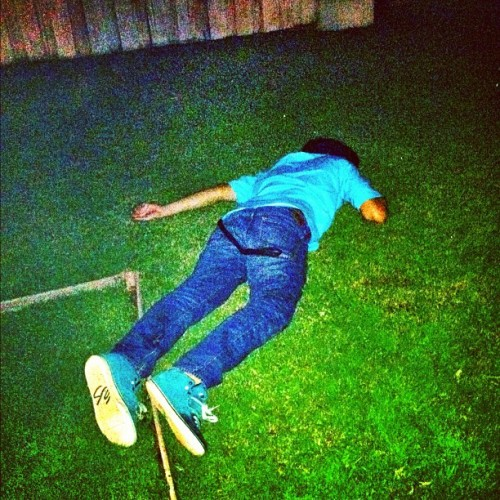 Project Gio was a success @geeoh_01 #fucked #up #project #party #laid #out #passed #wasted #good #night #grass #green #picoftheday #bestoftheday #igers #instadaily #instago #ignation #igaddict (Taken with Instagram)